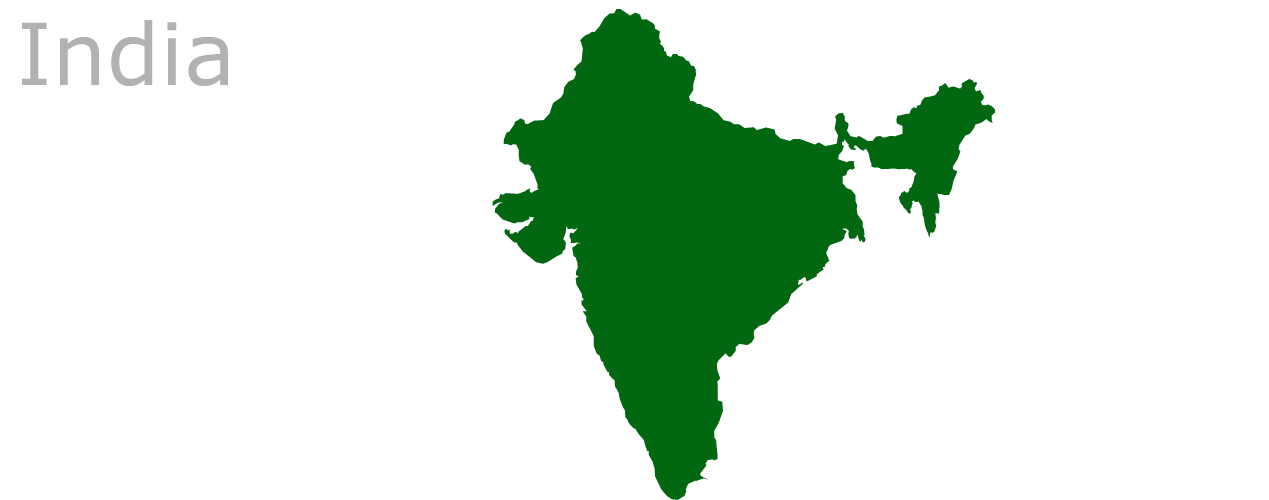 Map As India